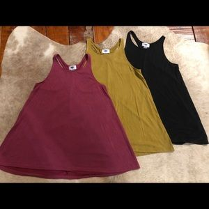 Lot of 3 Old Navy Baby Doll Racerback Tank Tops